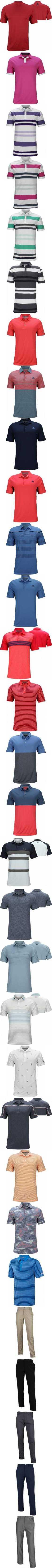 88a811fbf Adidas ClimaChill Core Heather Golf Shirts - Shock Red - Dustin Johnson  U.S. Open Thursday