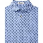 Peter Millar Hudson Printed Skulls Jersey Junior Golf Shirts