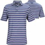 FootJoy ProDry Lisle Multi Bar Stripe Golf Shirts - FJ Tour Logo Available