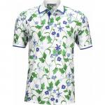 G/Fore Blue Floral Golf Shirts