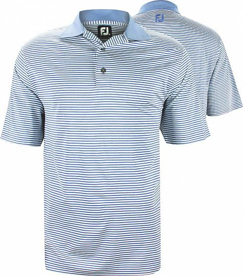 FootJoy ProDry Lisle Feeder Stripe Golf Shirts - FJ Tour Logo Available - Previous Season Style