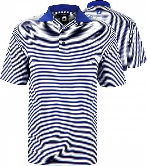 FootJoy ProDry Lisle Feeder Stripe Golf Shirts - FJ Tour Logo Available - Previous Season Style - RACK