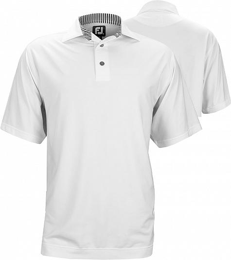FootJoy ProDry Lisle Solid Golf Shirts with Self Fabric Collar - FJ Tour Logo Available