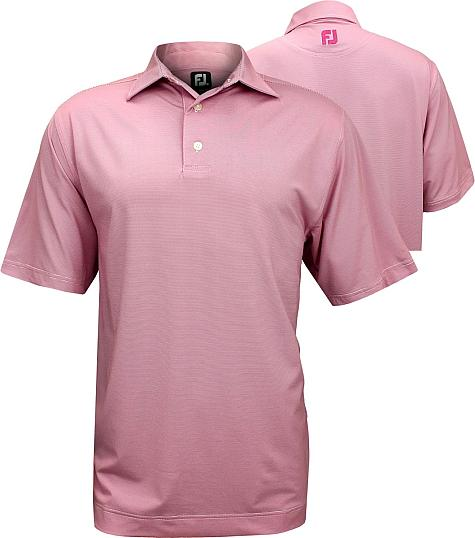 FootJoy End on End Stripe Stretch Lisle Golf Shirts - FJ Tour Logo Available - Previous Season Style