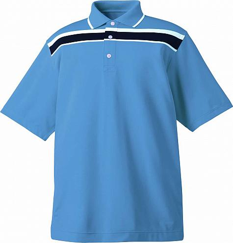 FootJoy Stretch Lisle Chest Stripe Junior Golf Shirts