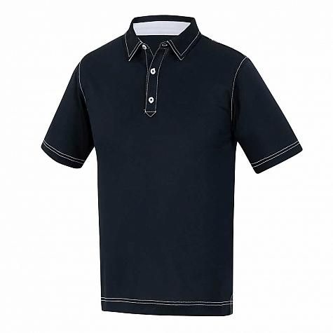 FootJoy Stretch Pique Contrast Stitch Junior Golf Shirts