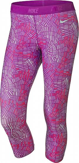 Nike Women's Dri-FIT Print Capri Golf Tights - CLOSEOUTS