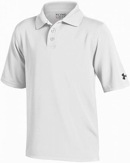 Under Armour Performance Solid Junior Golf Shirts - ON SALE - RACK