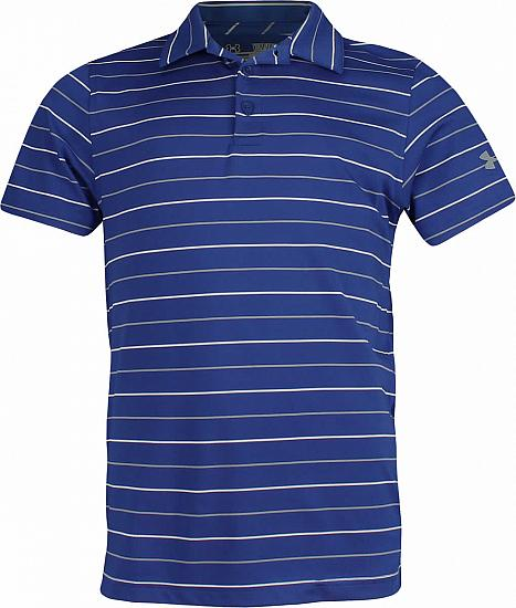 Under Armour Performance Stripe 2.0 Junior Golf Shirts - ON SALE - RACK
