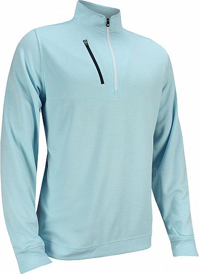 FootJoy Heather Pinstripe Half-Zip Golf Pullovers - FJ Tour Logo Available