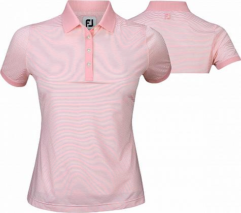 FootJoy Women's ProDry Performance Striped Essential Golf Shirts - Previous Season Style