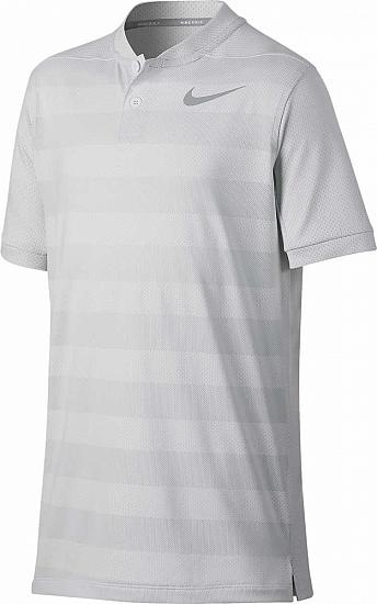 Nike Dri-FIT Zonal Cooling Stripe Junior Golf Shirts - ON SALE