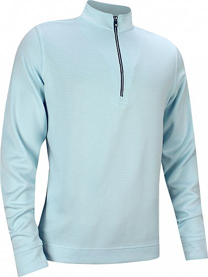 FootJoy Double Layer Knit Stripe Half-Zip Golf Pullovers - FJ Tour Logo Available - Previous Season Style
