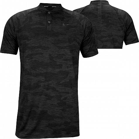 Nike Dri-FIT Tiger Woods Zonal Cooling Vapor Camo Blade Collar Golf Shirts