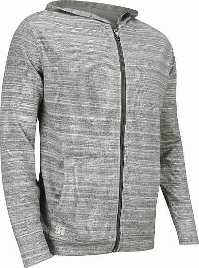 Linksoul Cotton Yarn Dye Stripe Full-Zip Golf Jackets - Grey