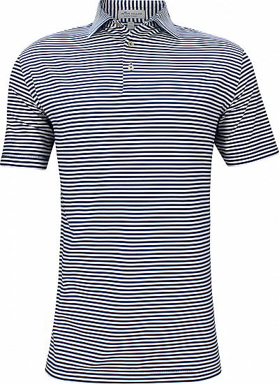 Peter Millar Competition Stripe Stretch Jersey Golf Shirts