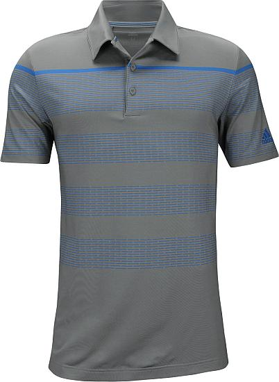 Adidas Ultimate Engineered Stripe Golf Shirts - Grey - ON SALE