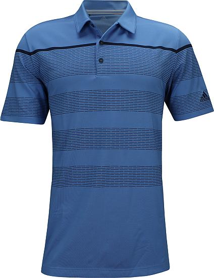 Adidas Ultimate Engineered Stripe Golf Shirts - ON SALE