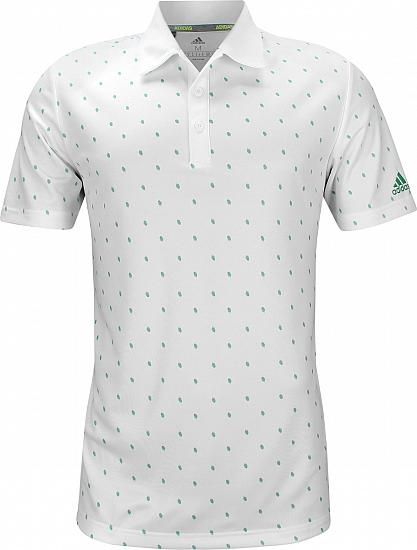 Adidas Pine Cone Critter Printed Golf Shirts - White - ON SALE