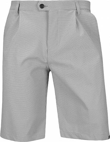 Adidas Ultimate 365 Gingham Plaid Pleated Golf Shorts