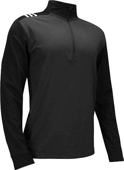 Adidas 3-Stripes Core Half-Zip Golf Pullovers - Carbon