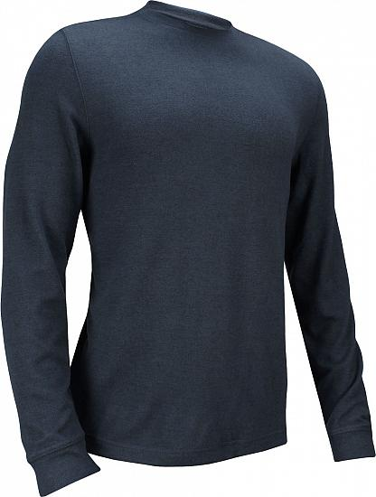 Dunning Stirling Long Sleeve Crew Neck Golf Sweaters - Halo Heather - ON SALE