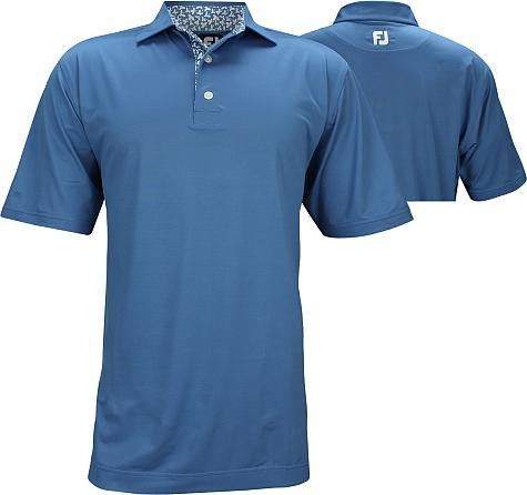 FootJoy ProDry Super Stretch Pique with Floral Print Trim Golf Shirts - Hyannis Port Collection - FJ Tour Logo Available