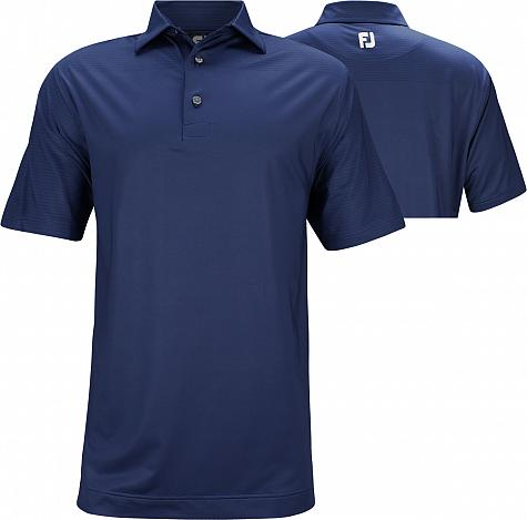 FootJoy ProDry Lisle Engineered Tonal Print Golf Shirts - Hyannis Port Collection - FJ Tour Logo Available - Previous Season Style