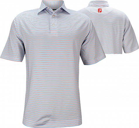 FootJoy ProDry Lisle Classic Stripe Golf Shirts - Juno Beach Collection - FJ Tour Logo Available - Previous Season Style