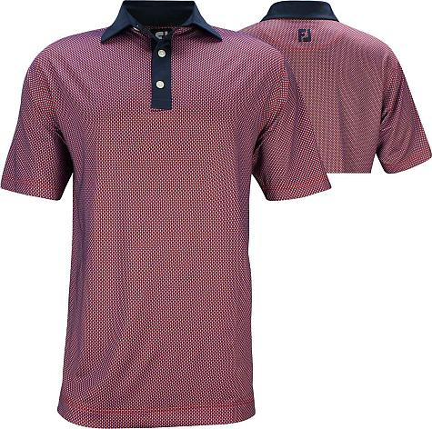 FootJoy ProDry Lisle Basketweave Print Golf Shirts - Juno Beach Collection - FJ Tour Logo Available