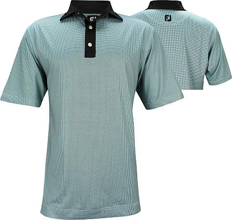 FootJoy ProDry Lisle Basketweave Print Golf Shirts - Wilmington Collection - FJ Tour Logo Available - Previous Season Style