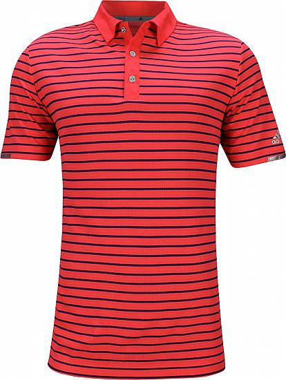 Adidas Ultimate ClimaChill 3-Color Stripe Golf Shirts - Big and Tall