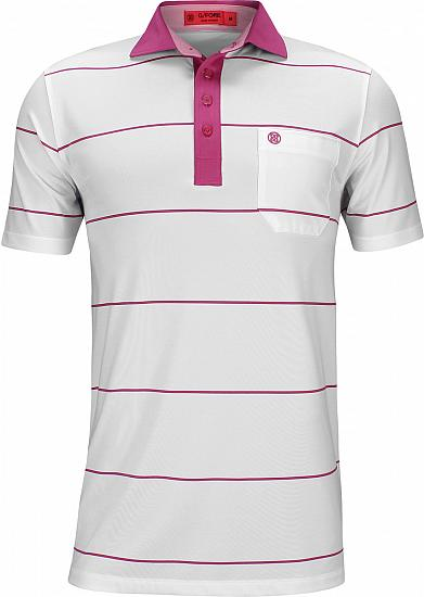 G/Fore Striped Pocket Golf Shirts - ON SALE