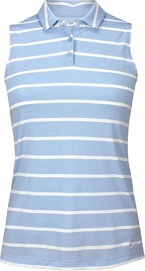 Nike Women's Dri-FIT Stripe Sleeveless Golf Shirts
