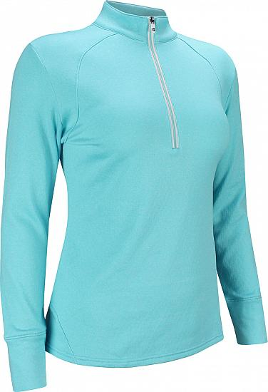 FootJoy Women's Textured Back Half-Zip Golf Pullovers - FJ Tour Logo Available - Previous Season Style