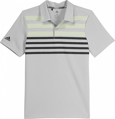 Adidas Chest Stripe Junior Golf Shirts