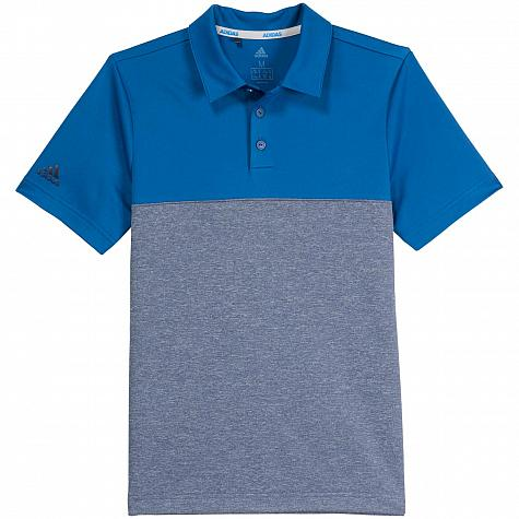 Adidas Heather Color Block Junior Golf Shirts