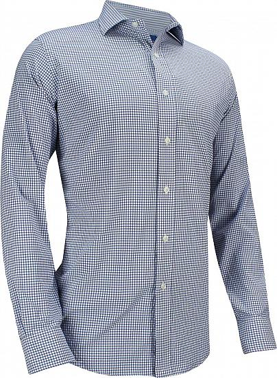 Polo Stretch Luxury Twill Spread Collar Performance Button-Downs