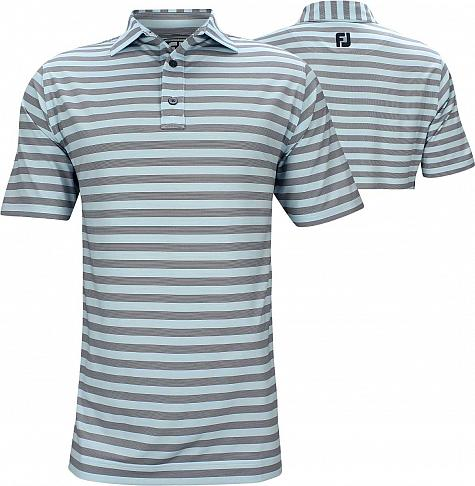 FootJoy ProDry Performance End on End Multistripe Golf Shirts - Athletic Fit - FJ Tour Logo Available