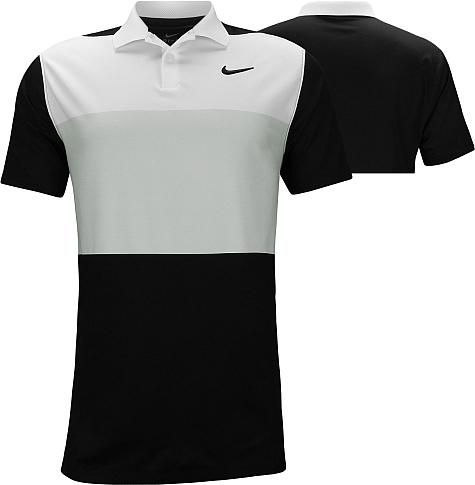Nike Dri-FIT Vapor Control Color Block Golf Shirts - Black
