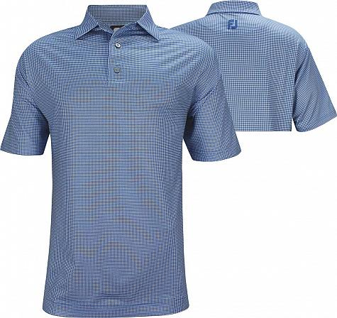 FootJoy ProDry Performance Heather Lisle Houndstooth Golf Shirts - FJ Tour Logo Available