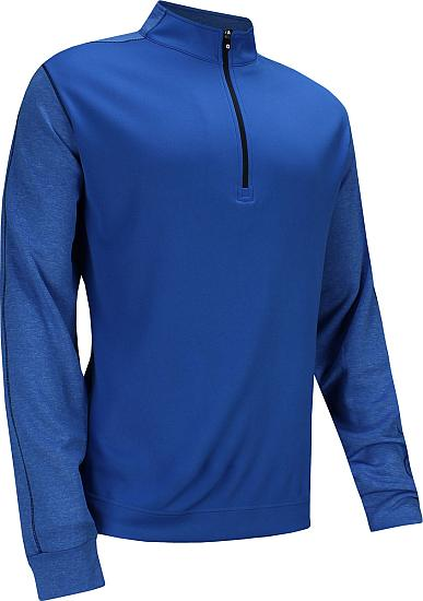 FootJoy Tonal Heather Half-Zip Golf Pullovers - FJ Tour Logo Available