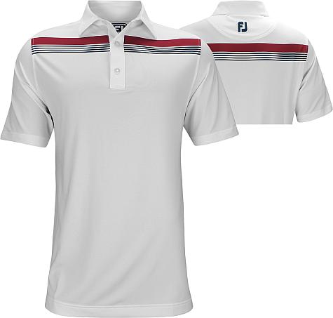 FootJoy ProDry Performance Lisle Engineered Chestband Golf Shirts - Athletic Fit - FJ Tour Logo Available