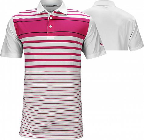 Puma Spotlight Golf Shirts - Fuchsia Pink - ON SALE