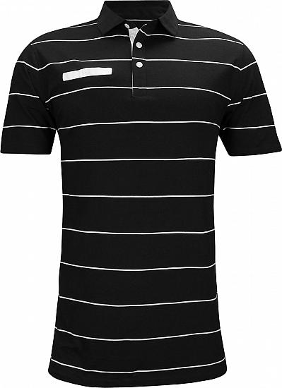 Nike Dri-FIT Player Stripe Golf Shirts - Black