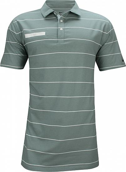 Nike Dri-FIT Player Stripe Golf Shirts - Aviator Grey - Rory McIlroy First Major