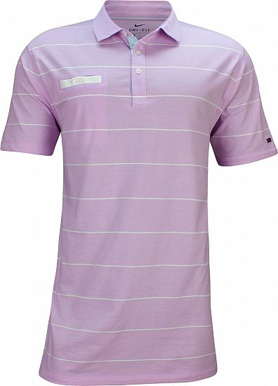 Nike Dri-FIT Player Stripe Golf Shirts - Lilac Mist - Rory McIlroy First Major
