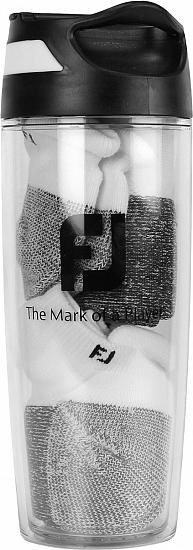 FootJoy ProDry Roll Tab 2-Pair Pack Golf Socks and Sport Bottle