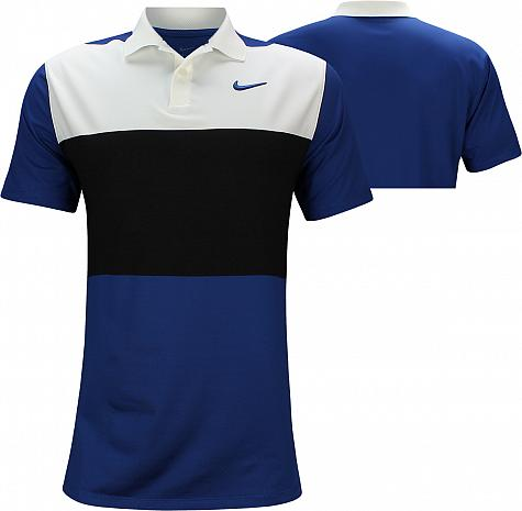 Nike Dri-FIT Vapor Control Color Block Golf Shirts - Indigo Force - Brooks Koepka PGA Championship Sunday