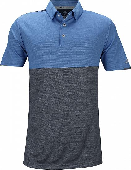 Adidas ClimaChill Heather Block Competition Golf Shirts - ON SALE